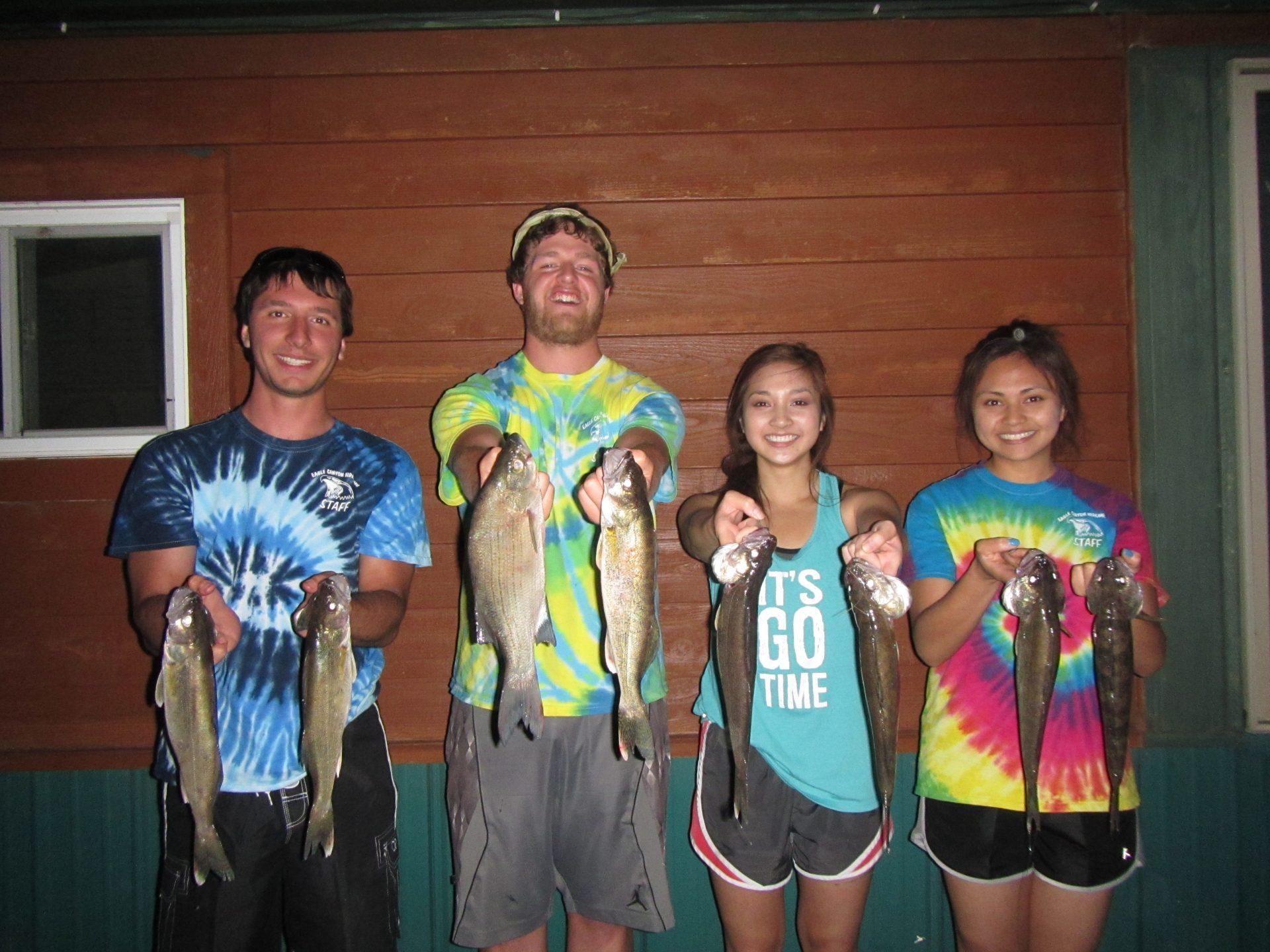Staff catching Walleye 2016